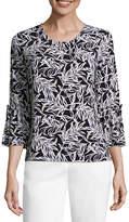 Liz Claiborne 3/4 Tie Sleeve Knit Top