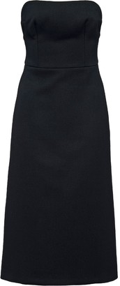 Prada Strapless Midi Tailored Dress