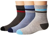Jefferies Socks Heathers Stripe Crew 3-Pack Boys Shoes