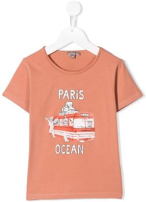 Emile et Ida bus print T-shirt