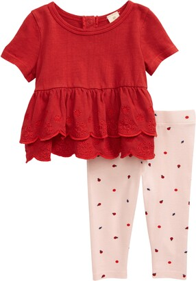 Tucker + Tate Spring Time Tiered Ruffle Top & Print Leggings Set