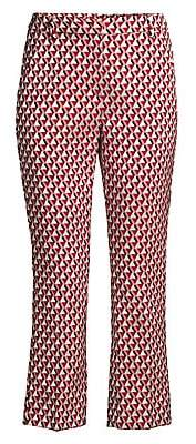 Max Mara Women's Capale Geometric Straight-Leg Pants
