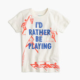 "J.Crew Boys' ""I'd rather be playing"" T-shirt"