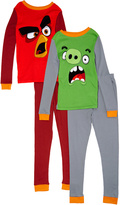 Komar Kids Red & Green Angry Birds Four-Piece Pajama Set - Boys
