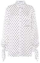 Balenciaga Chemise en soie imprimée