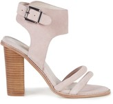 Sole Society Tiki Heel Embellished Buckle Sandal