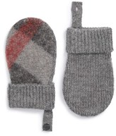 Burberry Girl's Check Mittens