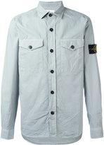 Stone Island logo patch shirt - men - Cotton/Spandex/Elastane - L