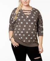 Almost Famous Trendy Plus Size Cutout Sweatshirt