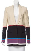 Givenchy Colorblock Button-Up Blazer
