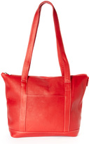Le Donne Red Leather Tote Bag