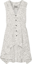 Maiyet Printed Silk Crepe De Chine Mini Dress - Ivory