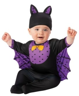 BuySeasons Toddler Girls and Boys Bat Deluxe Costume