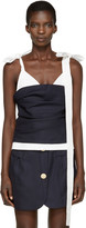 Jacquemus Navy & White 'Le Top Bustier' Tank Top