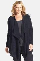 Plus Size Women's Barefoot Dreams Cozychic Lite Calypso Wrap Cardigan