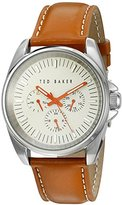 Ted Baker Men's 10025261 Vintage Analog Display Japanese Quartz Brown Watch