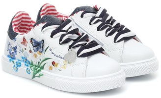 MonnaLisa Printed leather sneakers