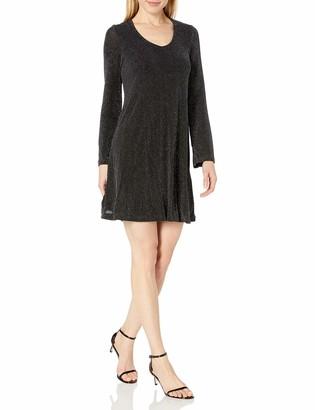 Karen Kane Women's Sparklet Knit Taylor Dress
