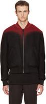 Marcelo Burlon County of Milan Black and Red Aorjek Bomber Jacket