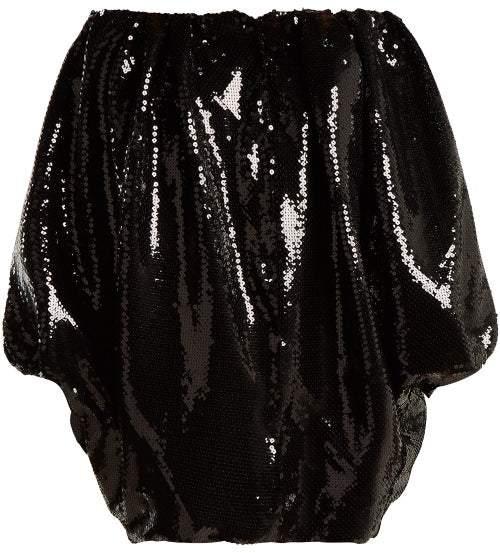 Halpern Off The Shoulder Sequin Embellished Dress - Womens - Silver Multi
