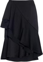 Lanvin Satin ruffled skirt
