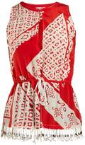 Altuzarra Bourse Bandana-print sleeveless top
