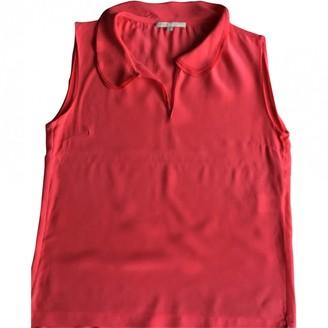 Maje Orange Silk Top for Women