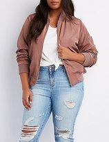 Charlotte Russe Plus Size Zip-Up Bomber Jacket