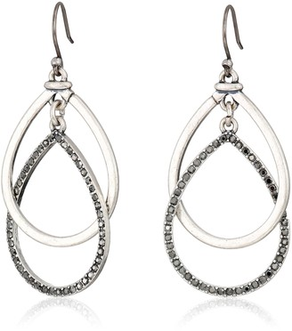 Lucky Brand Pave Double Hoop Earrings