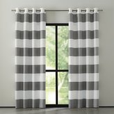 Crate & Barrel Alston Ivory/Grey Striped Curtains