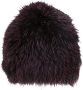 Yves Salomon furry beanie - women - Fox Fur/Acrylic - One Size