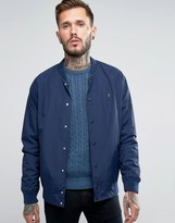 Farah Bellinger Nylon Bomber Jacket In Navy