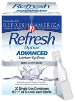 Refresh Optive® Advanced Triple-Action Relief Eye Drop - 30 Single Use Containers