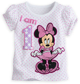 Disney Minnie Mouse ''I Am 1'' Birthday Tee for Girls