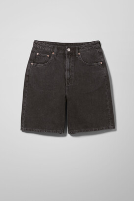 Weekday Dandy Denim Shorts - Grey