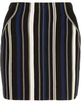 3.1 Phillip Lim Striped Stretch Cotton-Blend Mini Skirt