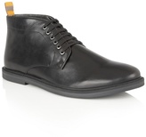 Frank Wright Black Leather 'corby' Lace Up Boots
