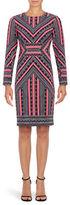 Vince Camuto Long Sleeve Geometric Sheath Dress