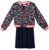 Speechless 2-Pc. Bomber Jacket & Skater Dress Set, Big Girls