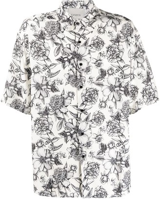 Laneus Floral Print Relaxed-Fit Shirt
