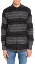 Ezekiel Men's Wylie Trim Fit Stripe Woven Shirt