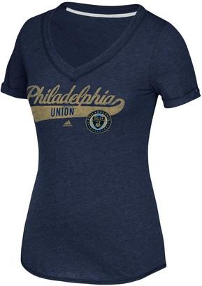 adidas Women's Navy Philadelphia Union Tail Stack V-Neck T-Shirt