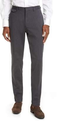 Ermenegildo Zegna Flat Front Stretch Cotton Twill Dress Pants