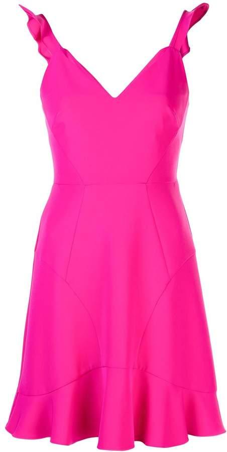 Aidan Mattox Ruffle Trim Mini Dress