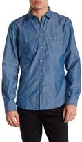 John Varvatos Slim Fit Long Sleeve Military Shirt