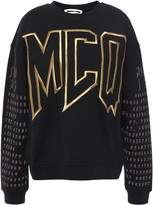 McQ Embroidered Printed French Cotton-jersey Sweatshirt