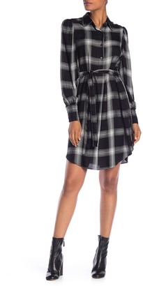 Max Studio Plaid Button Shirt Dress