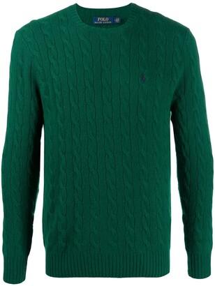 Polo Ralph Lauren Cable-Knit Logo Jumper
