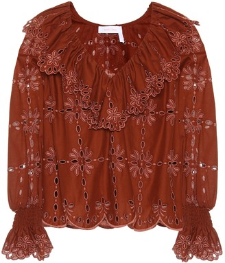 See by Chloe Cotton eyelet lace top