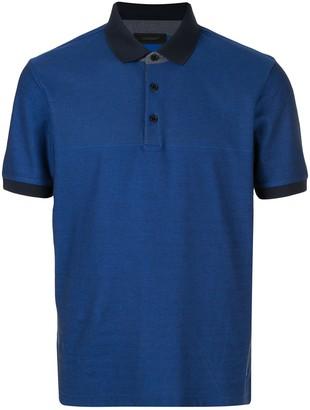 Durban D'urban contrasting collar polo shirt